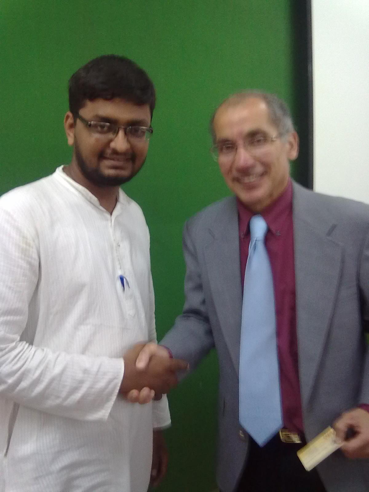 SIO Tamilnadu Pr Sec meets Dr. Gawdat Bahgat