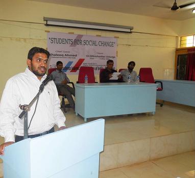 National Campus Secretary SIO India Visit to Karnataka
