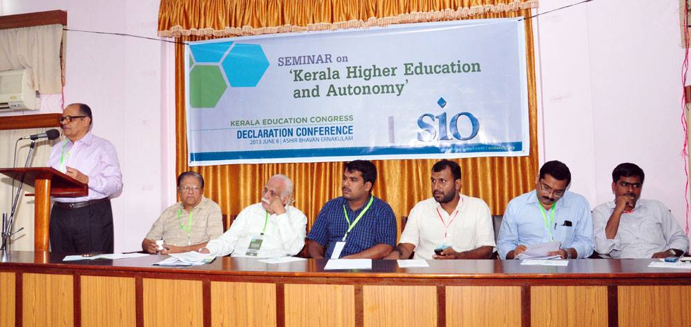 Seminar on Higher education and Autonomy by SIO Kerala