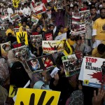 Joint Protest against military coup and massacres in Egypt, New Delhi