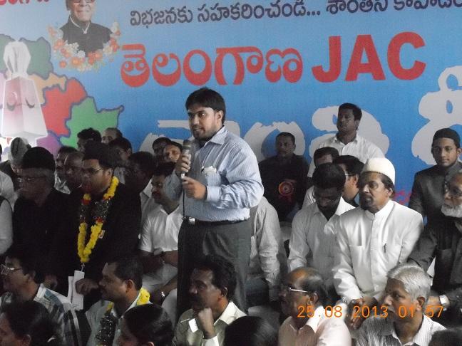 SIO Representing Telangana Students JAC in Shanthi Deeksha SIO Andhra Pradesh