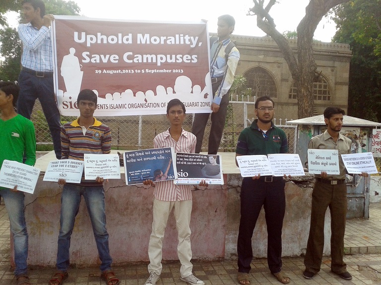 Uphold Morality, Save Campuses SIO Gujarat Zone observes Campus Campaign