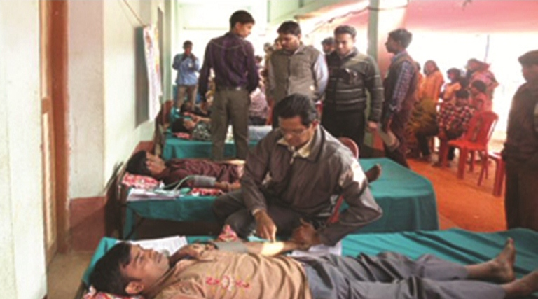Blood Donation Camp in West Midnapore