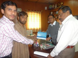 SIO Anantapur's delegation meets VC of S.K. University