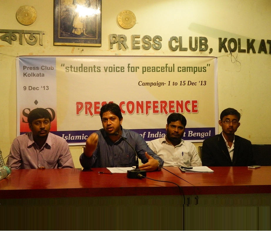 SIO of India Urges the Student Community to Raise Voice for Peaceful Campus Kolkata Press Meet