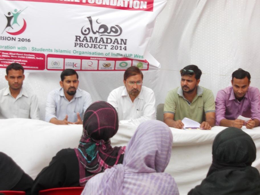 Ramzan kit distribution event at Aligarh