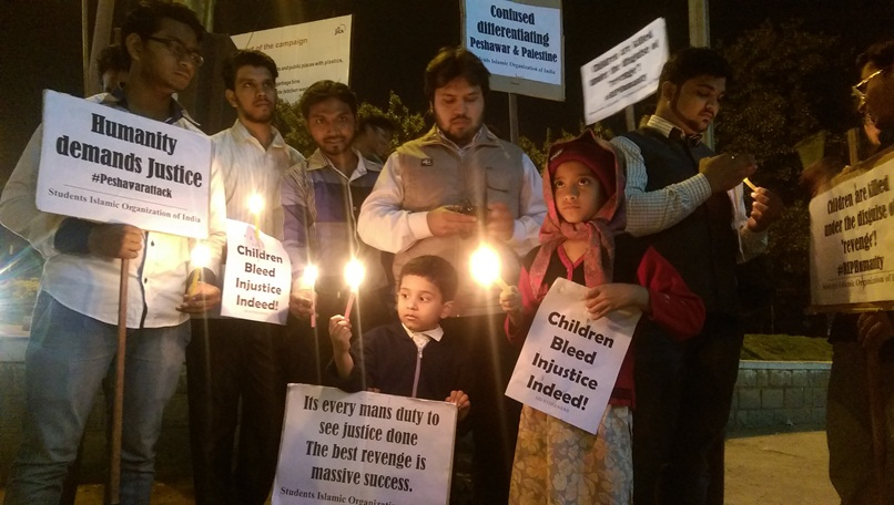 SIO condemns Peshawar killings; organises protests across the country
