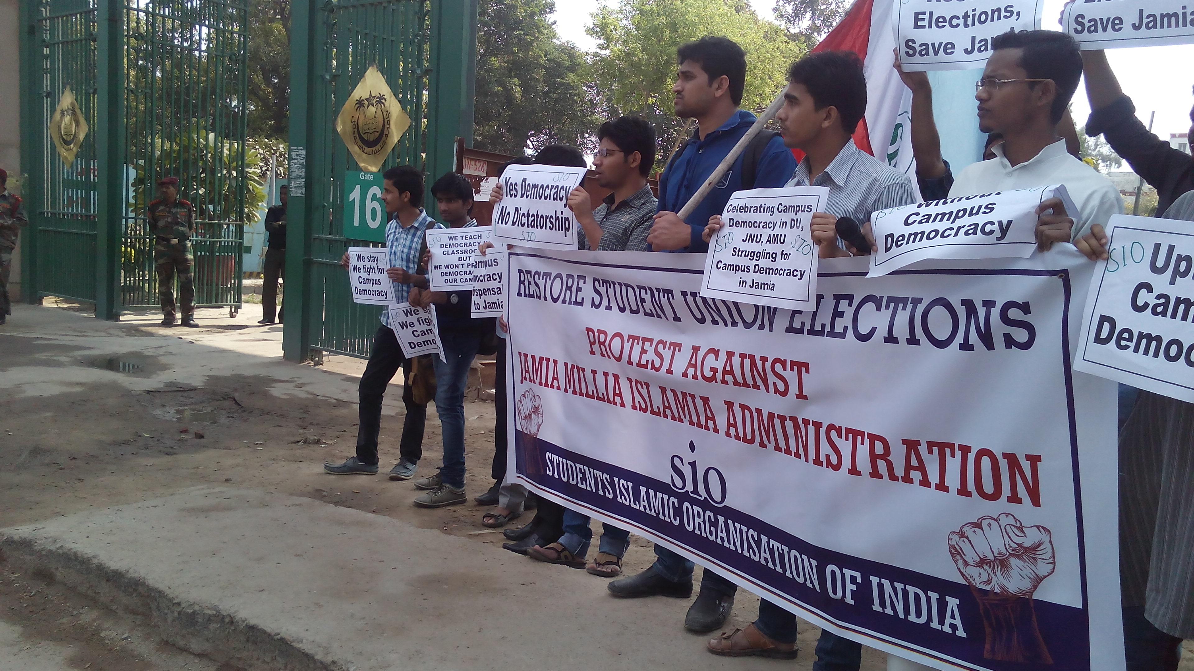 SIO demands restoration Student Union Elections at JMI-New Delhi