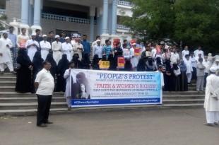 SIO Karnataka organized protest against CJI's Statement demanding apology from CJI