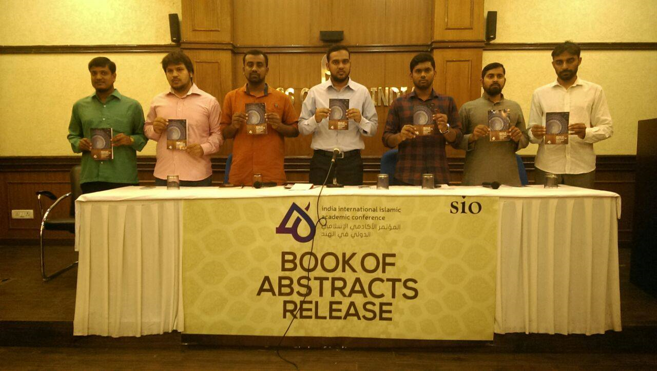 Book of Abstracts Release by SIO at Press club of India