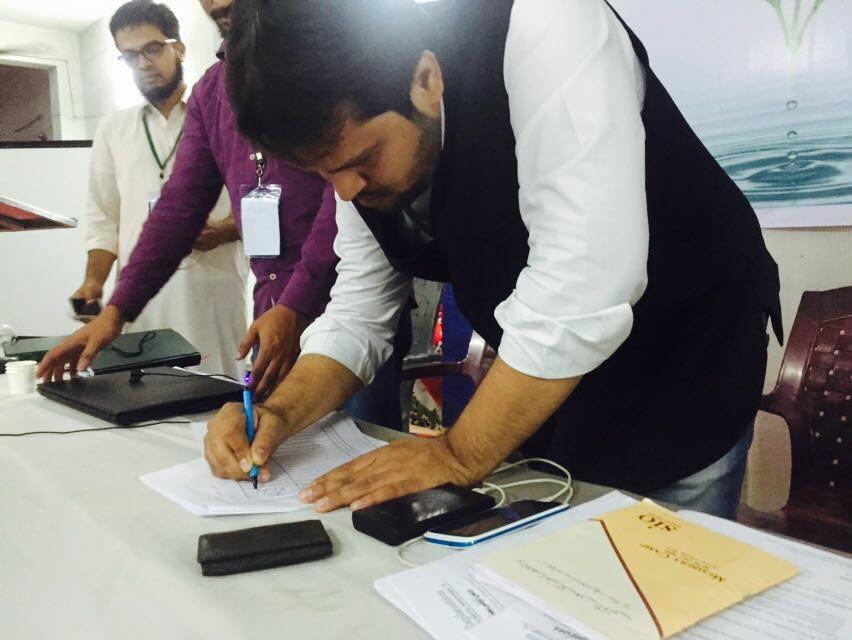 SIO Telangana started Signature Campaign for Najeeb