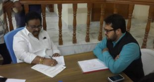 MP Jitendar reddy signing the document