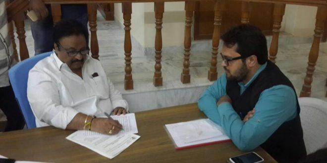 MP Jitendar reddy signing the document