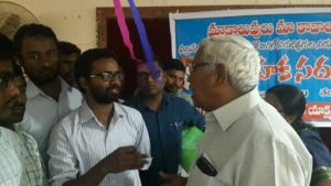 Br. Yaaser Ali state PR Sec discussing with Prof. Kodandaram