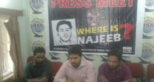 Br. Layeeq Ahmed Khan, Zonal President addressing the press meet at Hyderabad. Br. Kaleem Ahmed Khan Zonal Secretary & Br. Yaaser Ali, PR Secretary were also seen