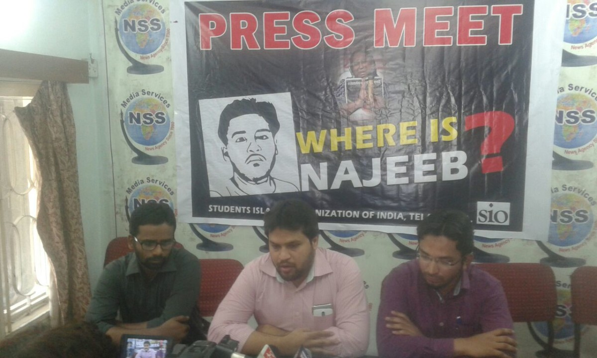 Press Meet of SIO Telangana at Hyderabad. #Justice4Najeeb #WhereIsNajeeb???