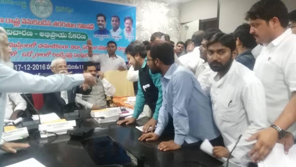 SIO Telangana represented for 12% reservations for minorities in Telangana