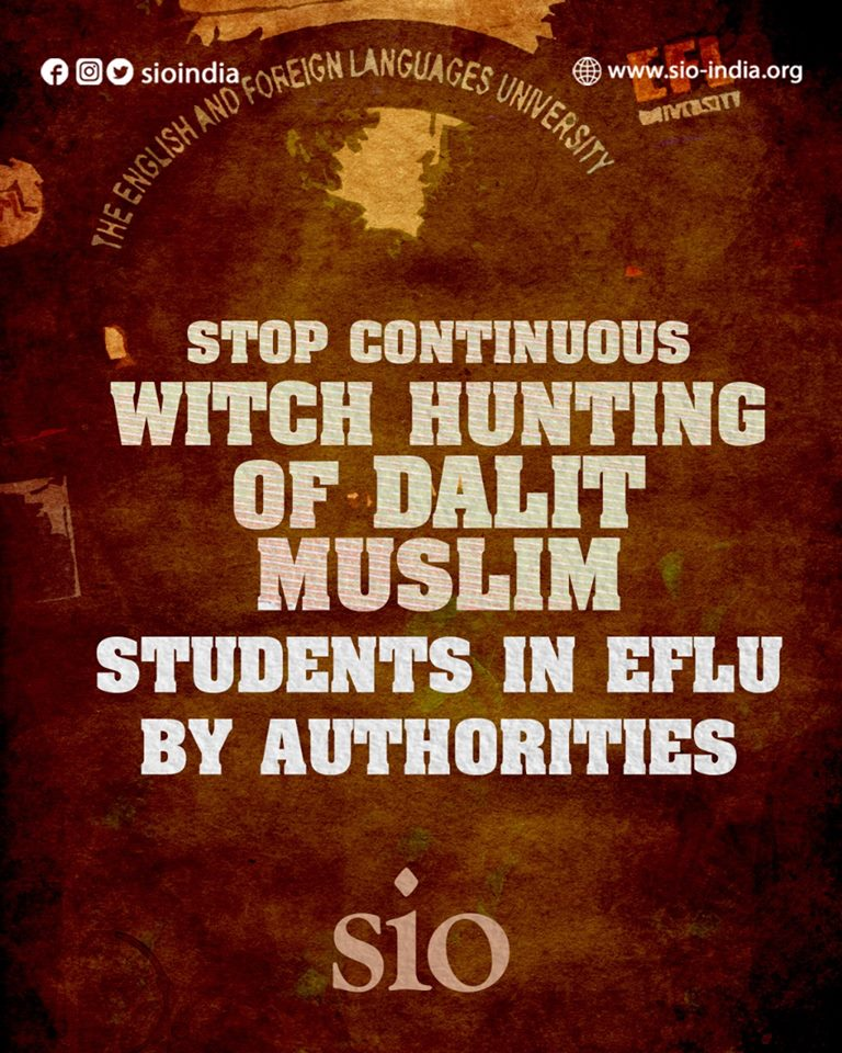 SIO denounce anti-student approach of EFLU authority