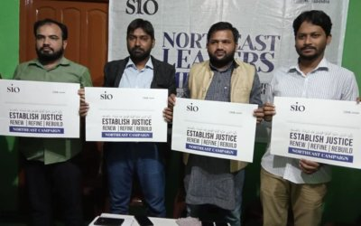 "SIO Launched North East Campaign titled ""Establish Justice"""