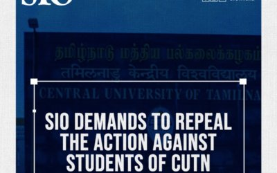 SIO demands to repeal the action against students of CUTN