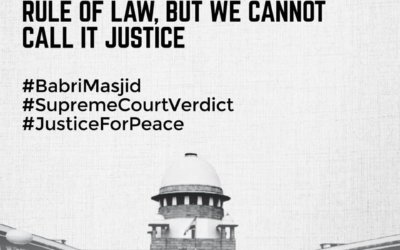 We accept the verdict in the spirit of respecting rule of law , but we cannot call it justice: SIO