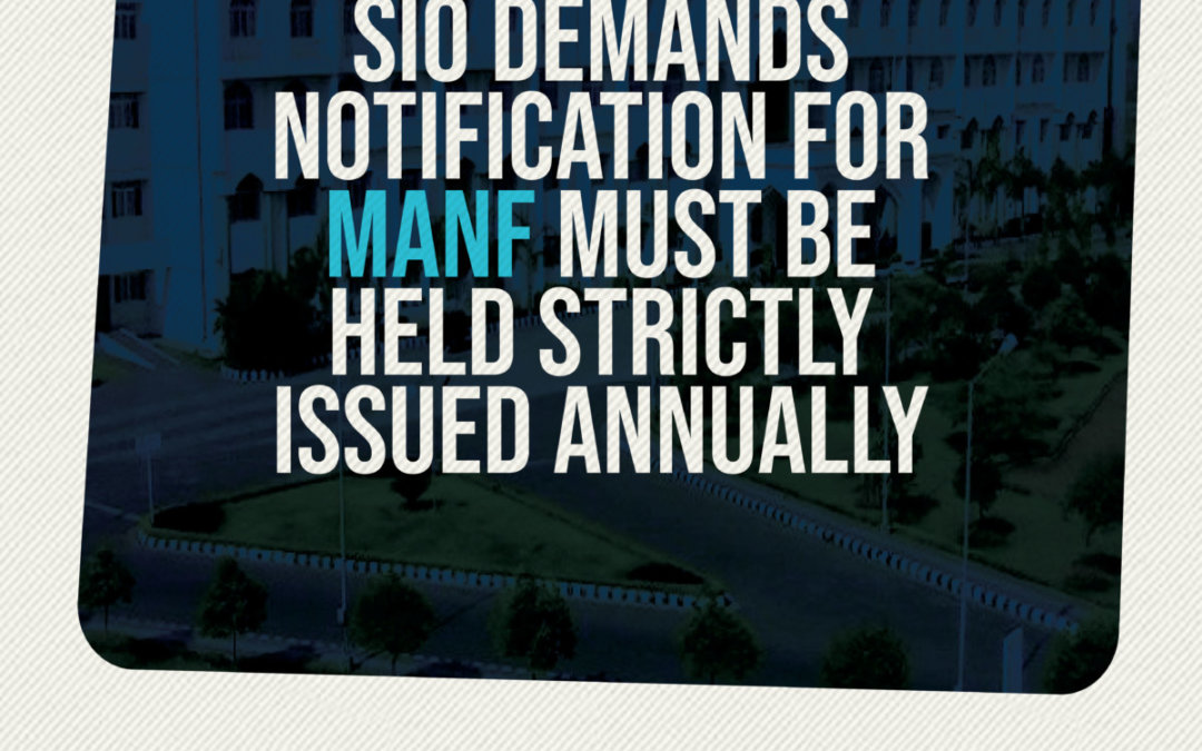 Notification for MANF must be held strictly issued annually: SIO