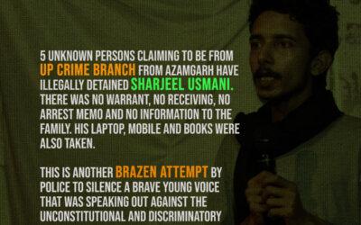 Release Sharjeel Usmani Immediately: SIO