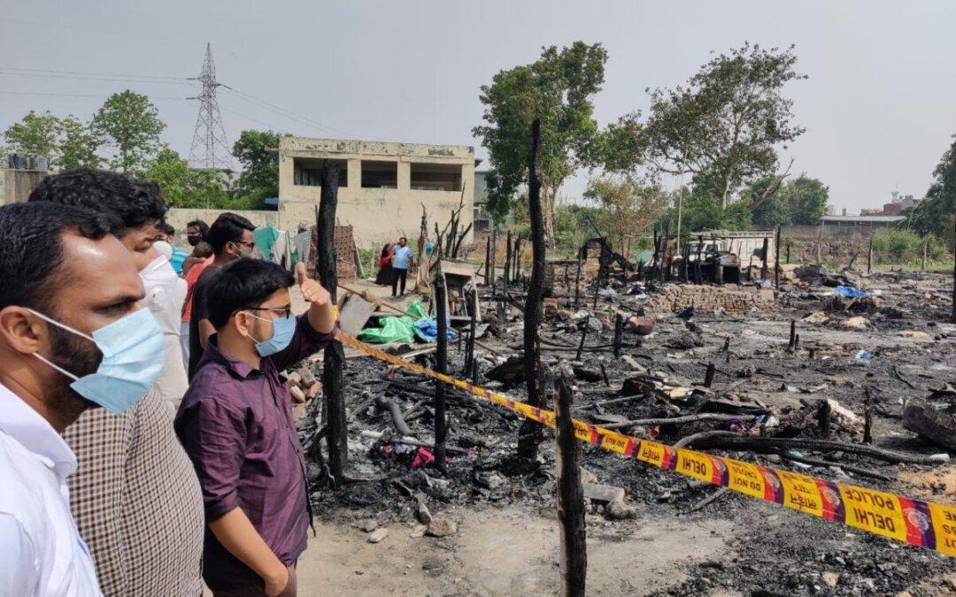SIO Delegation Visits Razed Rohingya Settlement, Demands Improved Rehabilitation