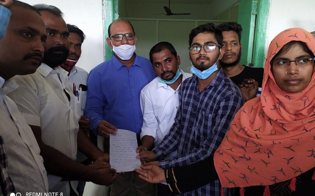 SIO Leads the Students' Protest at Abdul Haq Urdu University Kurnool